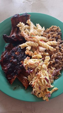 The Valley, Anguilla: BBQ ribs...yum!
