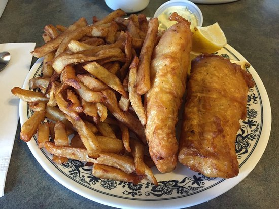 Fish & Chips (Cod) - Franny's Family Restaurant, Kirkland Lake ON