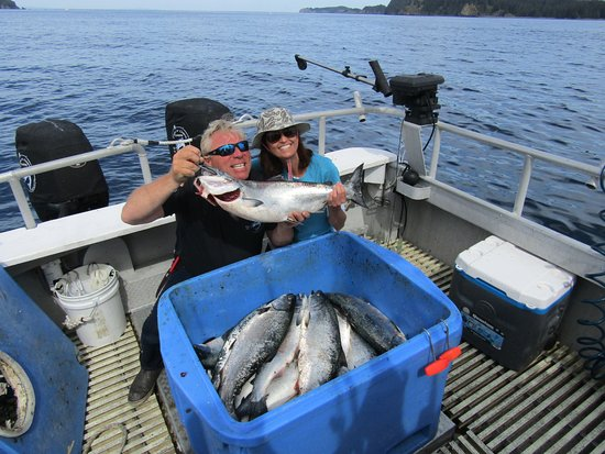 Captain dave and best mate robbi picture of fish n for Kodiak fishing charters