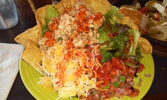 Seaside Heights, NJ: Taco salad - the only salad they have. Fortunately, it was good.