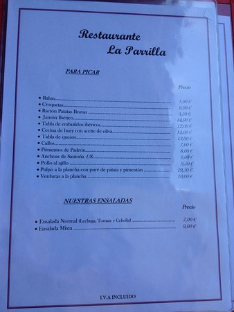 Prellezo, Spanyol: La Parrilla