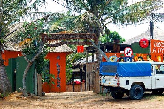 Ponta do Ouro, Mozambique: Vista frontal do restaurante
