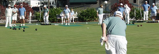 Sun N Fun Resort and Campground: Championship lawn bowling