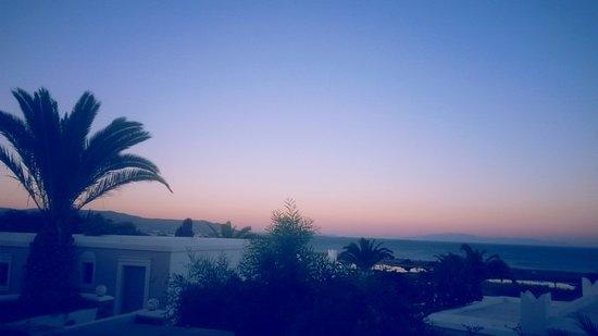 Agios Prokopios, Yunanistan: Vista dalla camera all'alba