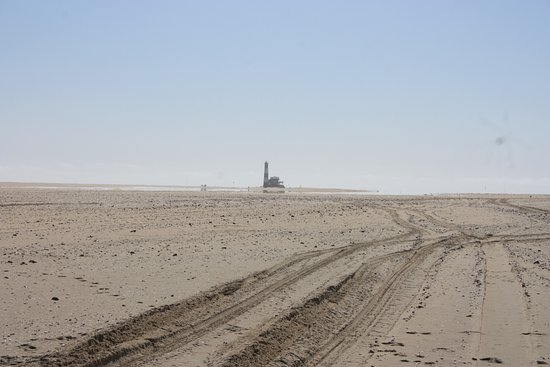 Walvis Bay, Namíbia: Pelican point light house.