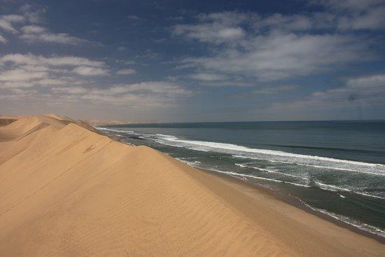Walvis Bay, Namibia: Sandwich Harbour view point - where desert meets ocean