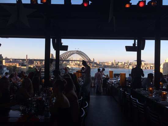 View from Cafe Sydney early evening