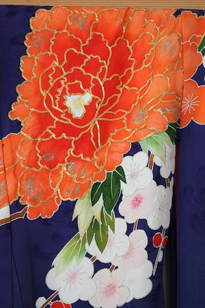 ‪‪Lethbridge‬, كندا: Part of a Japanese Uchikake kimono on display in the pavilion‬