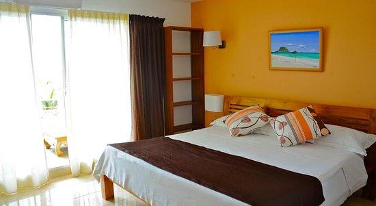 Tamarin: Chambre principale avec coin terrasse Duplex