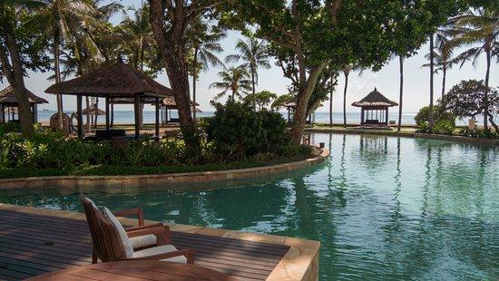 Conrad Bali: Lagoon pool with beach from the terracce