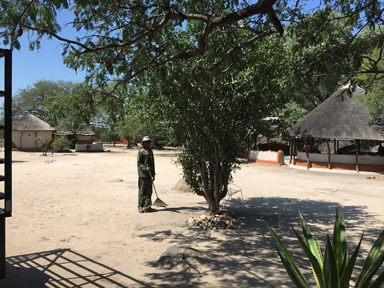 Francistown, Botswana: Precious working on the farm