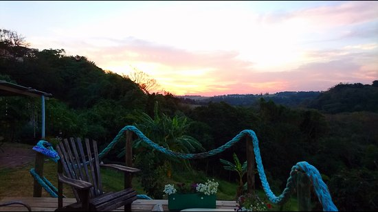 Umzumbe, África do Sul: Glorious sunsets from our deck