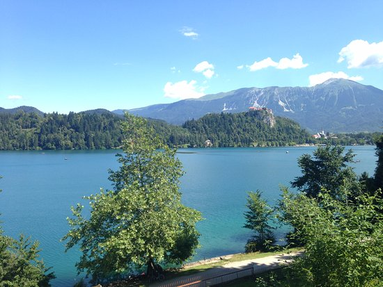 Vila Bled: View from hotel towards Lake Bled