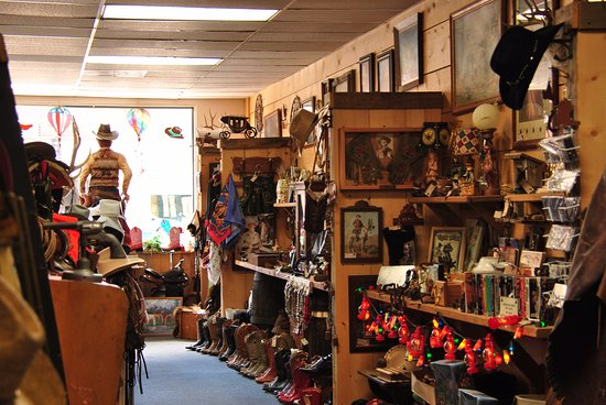 Panguitch, UT: Cowboy Collectibles wares.