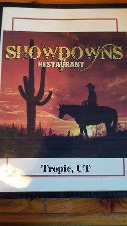 Tropic, UT: menu cover