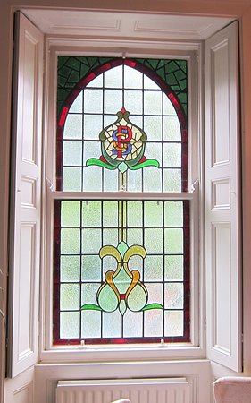 The Old Convent: Gorgeous stained glass windows everywhere!