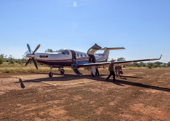 Madikwe Game Reserve, Sydafrika: Fed Air plane.