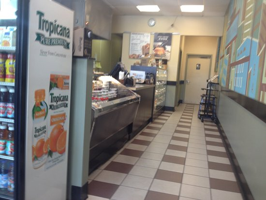Lawrenceville, NJ: Walk Way to Bagel and Muffin Display