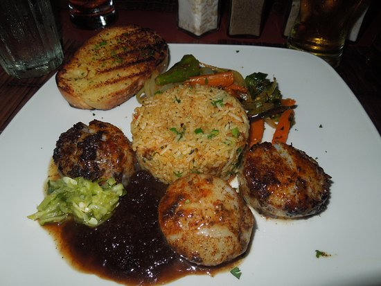 Mullins, Barbados: Grilled scallops---delicious!