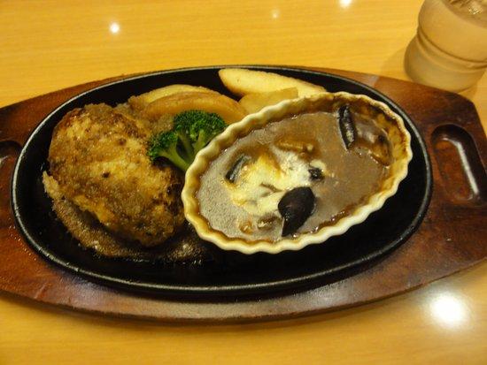 Stake Miya Tsukubagakuenten: ハンバーグ・ナスチーズカレー