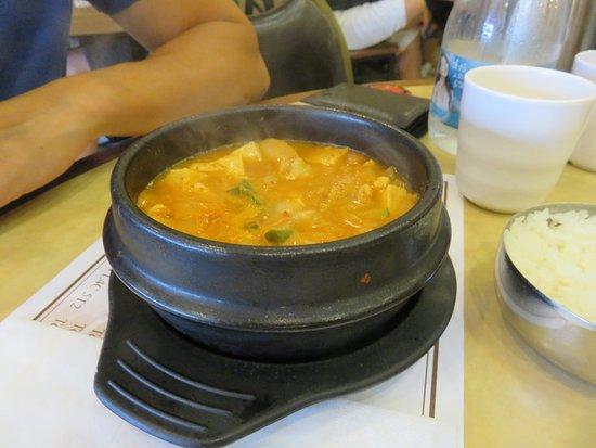 Nak Won: Spicy Kimchee soup with pork