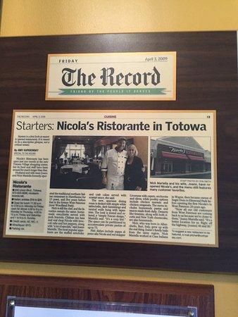 Italian Restaurant Totowa