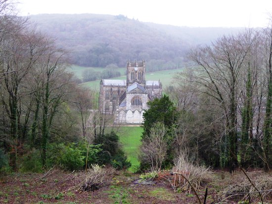 Milton Abbas, UK : View from St Catherine's Chapel on the site of Athelstan's encampment