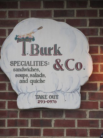 ‪‪T. Burk & Co. Deli Restaurant‬: Business sign posted on the building at the entrance. Look for a red building. Small strip mall‬