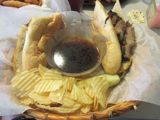 T. Burk & Co. Deli Restaurant: My sandwich on both sides. Plenty of beef