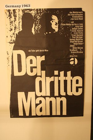 The Third Man Museum: A cinema poster in German of The Third Man