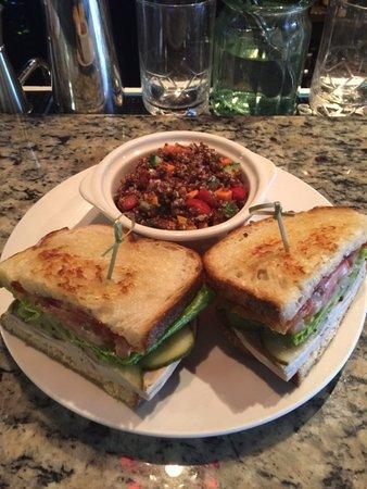 Lewiston, ME: TurkeyClub w/Smoked Chedder Quinoa Salad