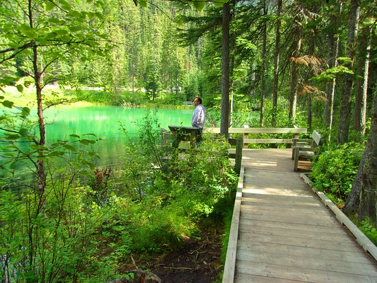 Radium Hot Springs, Kanada: Scenic overlook at Olive lake (5 - 7 minutes from the car)