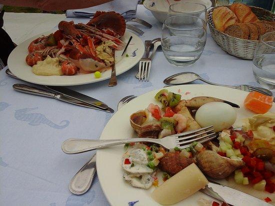 L'Hippocampe: assiette du buffet que l'on garnit comme on le désire....