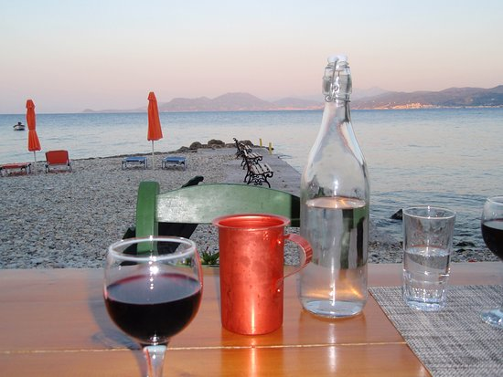 Avlakia, Grecja: The view from our table