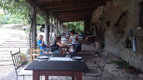 Lubriano, Italia: e' ora di cena!!!