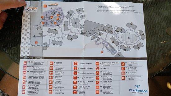 Sanctuary at Grand Memories Varadero: map of both resorts