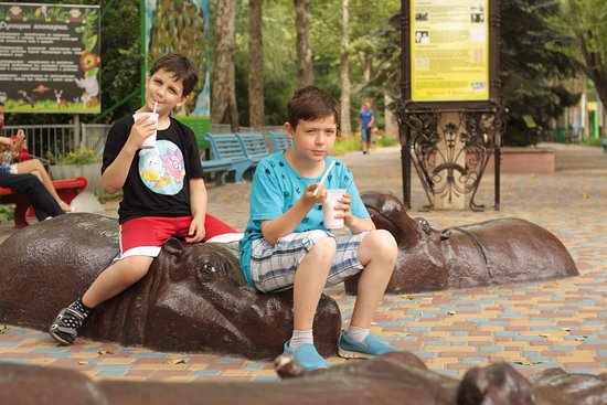 Mykolayiv, Ucraina: Вид от входа, разных скульптур про животных много