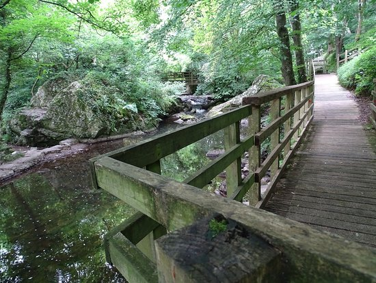 Llangefni, UK: The wooden walkway
