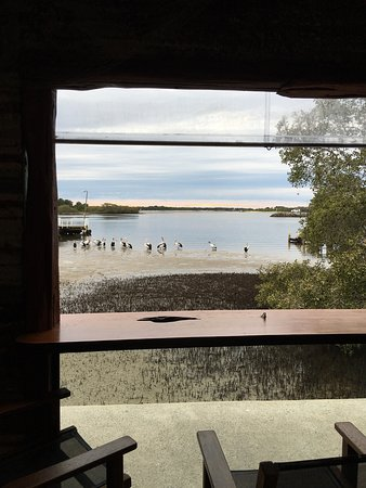 Yamba, Australia: Views from the Bbq area & upstairs room