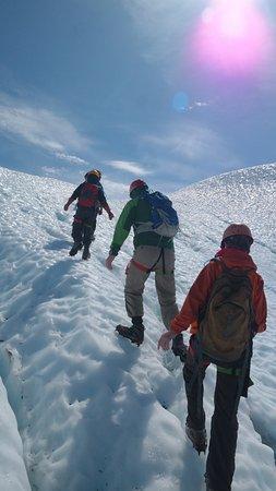 Glacier View, AK: climbing the glacier