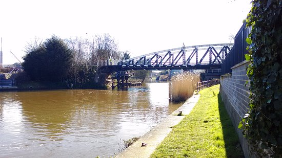 Northwich, UK: Hayhurst Bridge (taken on a different day to our Anderton Boat Lift trip).