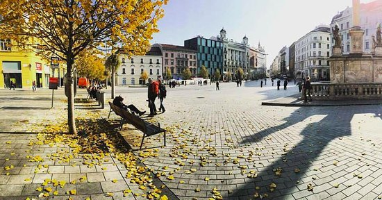 ‪‪Brno‬, جمهورية التشيك: Namesti Svobody in late October.‬