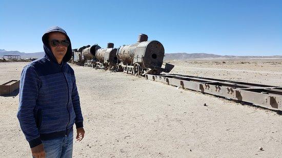 """Уюни, Боливия: Trens """"mortos"""""""