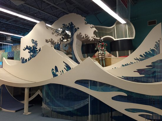 Davie, FL: Hokusai inspired area within the CultureScape exhibit.