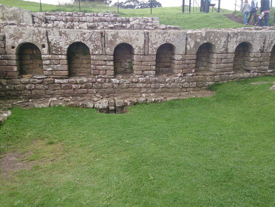Hexham, UK: A section of the baths.