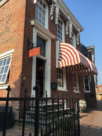 Appingedam, Belanda: De gevel van het restaurant