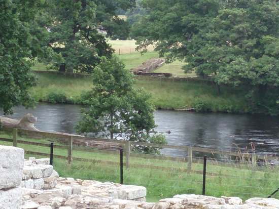 Hexham, UK: The river where the baths sourced water.