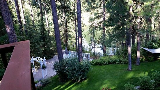 Post Falls, ID: View from upper back deck area