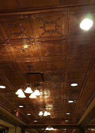 Point Lookout, MO: This was the ceiling inside the restaurant
