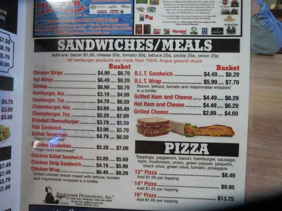 Columbia City, IN: Sandwiches/pizza